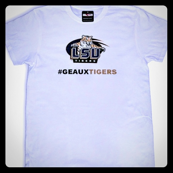 reputable site fdb36 973b5 LSU Tigers Geaux Tigers NCAA T Shirt NWT